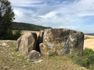 Coldrum Longbarrow (2020). This ancient burial site was built around 4000 BC, and is one of the 'Medway Megaliths'.