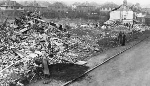 Bomb damage on Wickenden Road