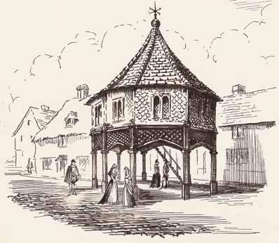 Illustration of the old market house pre-1554