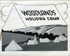 The first Woodlands Holiday Camp brochure, illustrated by Greves Mellor (1929), © Barbara Benedict