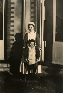 Nurse and patient at Emily Jackson Hospital (1920s), Courtesy of Barchester Health Care