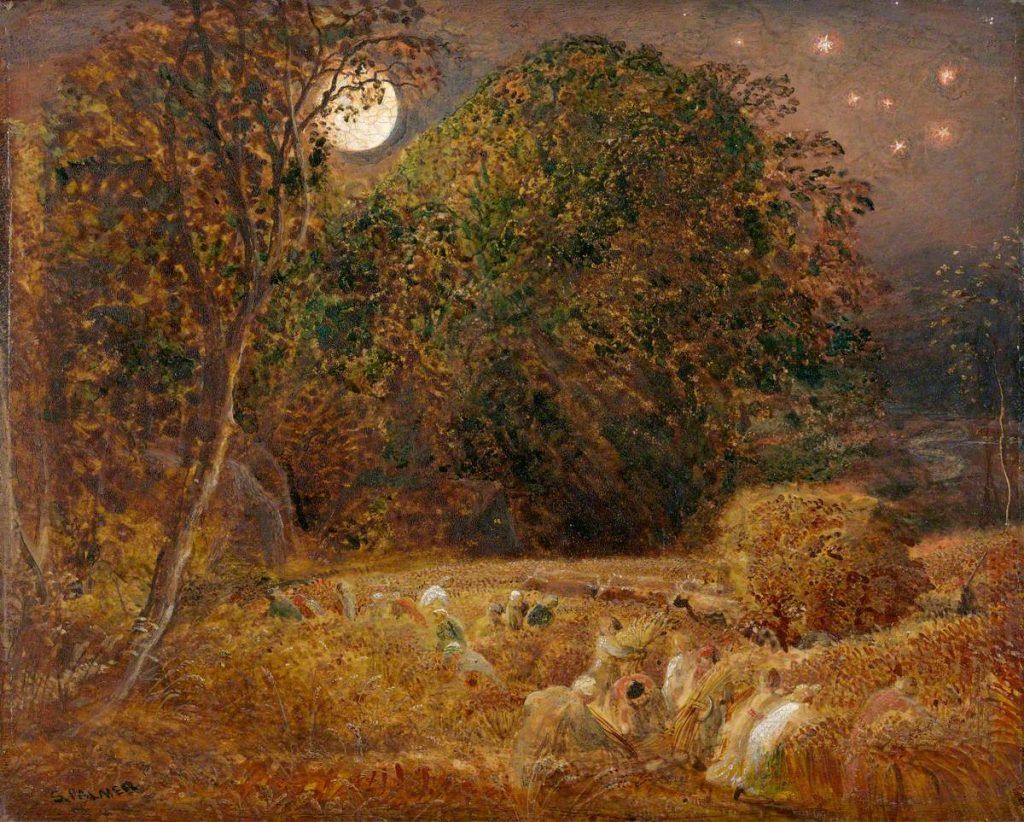 The Harvest Moon by Samuel Palmer (1805–1881), © Yale Center for British Art