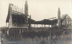 Nevill cricket pavillion after arson attack