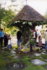 Well dressing (a rural tradition) in Toys Hill, 1998, © Eden Valley Museum Trust
