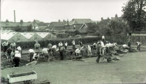Digging out the swimming pool at Croft lane School, © Eden Valley Museum Trust
