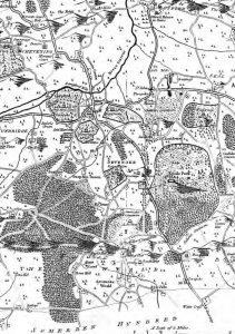 Map drawn for Hasted's History of Kent, 1778