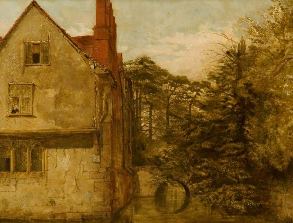 Ightham Mote, attributed to Charles Landsdeer (1799-1879), © Solihull Metropolitan Borough Council