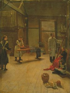 'Spring cleaning at the Lime Street Studios' by Elsie Druce, © Rye Art Gallery