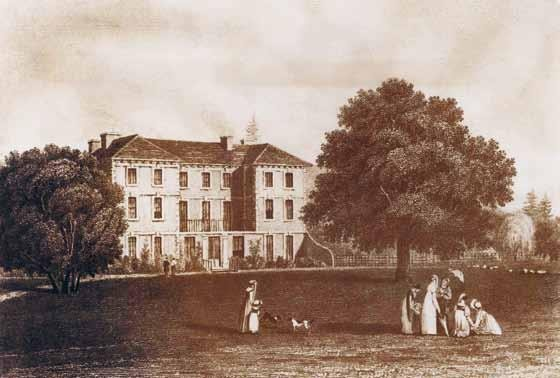 Wildernesse House c. 1820, drawing by J.P. Neale