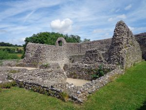 Modern day ruins of the Norman castle