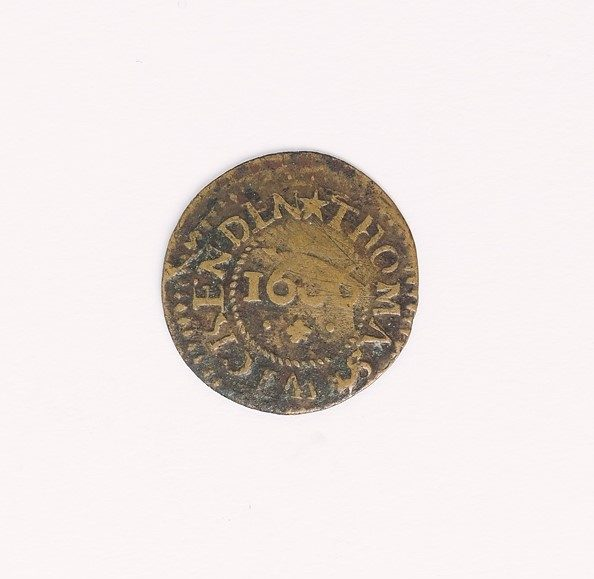 Token issued by Sevenoaks merchant Thomas Wickenden (1666), © Kent County Council Sevenoaks Museum