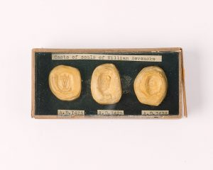 Casts from the seals of William Sevenoke, © Kent County Council Sevenoaks Museum