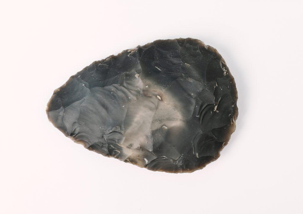 Flint hand axe, © Kent County Council Sevenoaks Museum