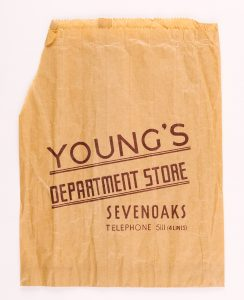 Paper bag from Young's Department Store, © Kent County Council Sevenoaks Museum