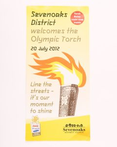 Route map for olympic torch relay through Sevenoaks district, © Kent County Council Sevenoaks Museum