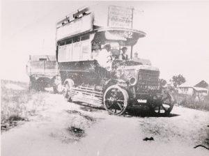 Early motor bus used on Sevenoaks route (pre-1920s), © Kent County Council Sevenoaks Library