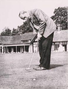 Sam King playing at Knole Park Golf Club as an adult