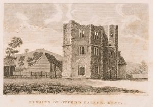 Engraving of Otford Palace, which fell to ruin during the reign of Elizabeth I.