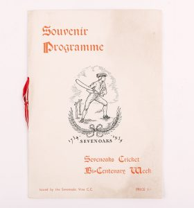 Souvenir programme for the bicenentary of the first cricket match on the Vine (1934), © Kent County Council Sevenoaks Museum