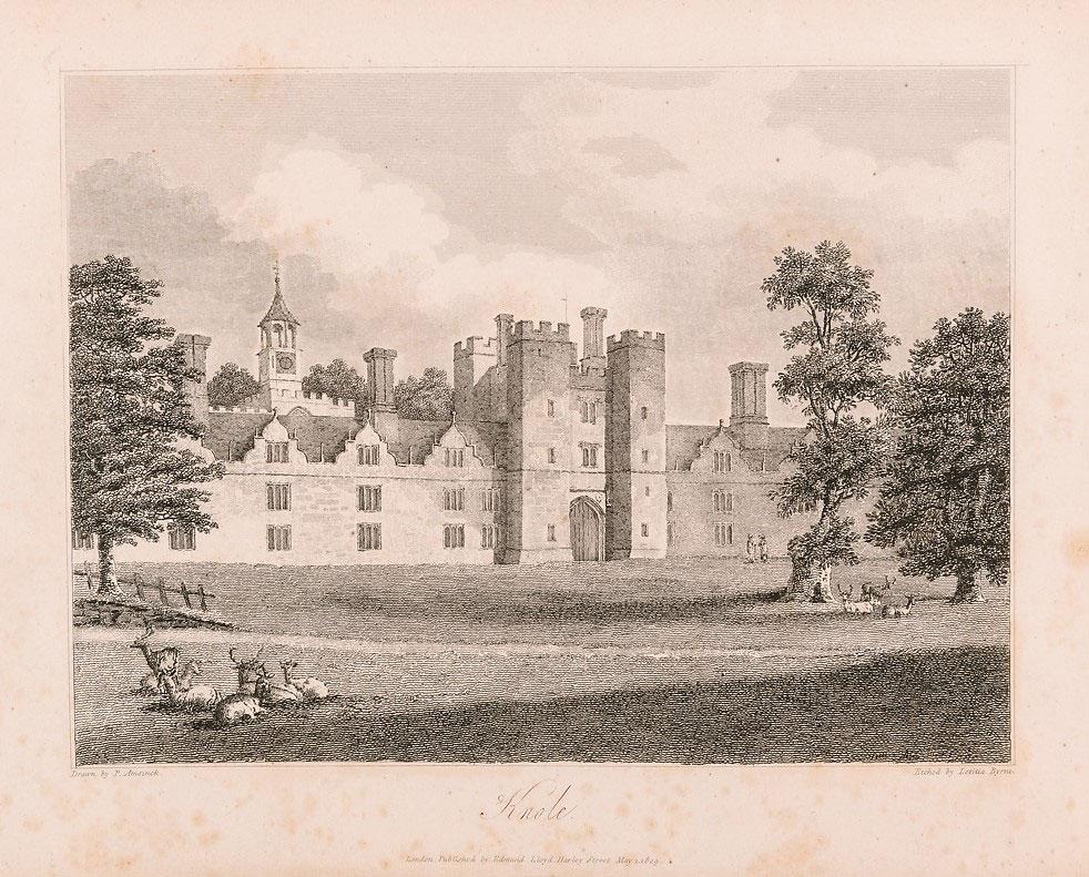 Knole House in 1809, © Kent County Council Sevenoaks Museum