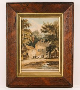 Painting of Westerham Mill by E. Featherstone, © Kent County Council Sevenoaks Museum