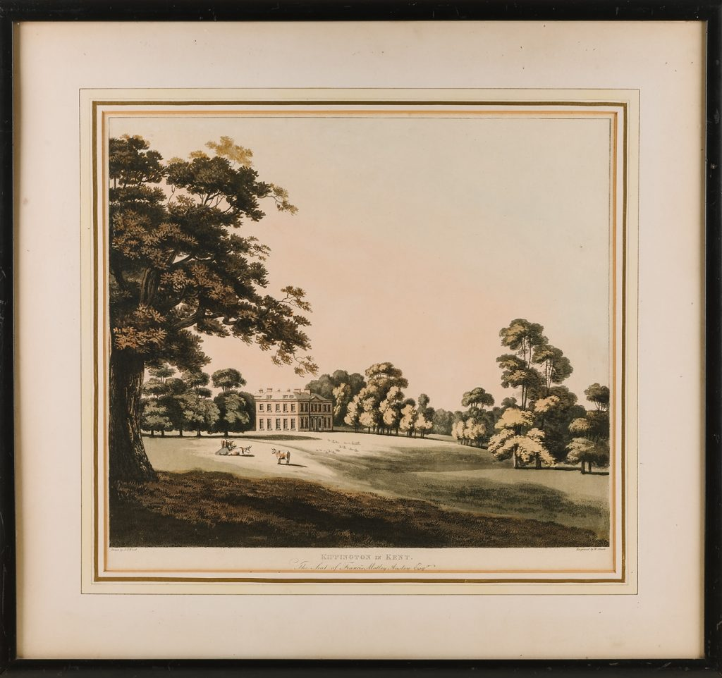 Kippington House, The Seat of Francis Motley Austen Esq. drawn by J.G. Wood © Kent County Council Sevenoaks Museum
