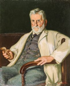 Oil painting of Benjamin Harrison by C. Chitty (1921), © Kent County Council Sevenoaks Museum