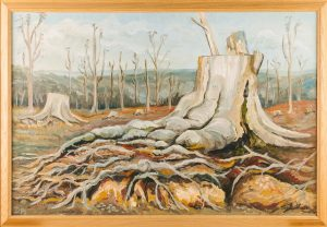 Painting by local artist Diana Atkinson, 'Knole After the Storm', © Kent County Council Sevenoaks Museum