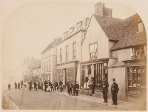 Two police officers on Sevenoaks High Street (late 1800s), © Kent County Council Sevenoaks Museum