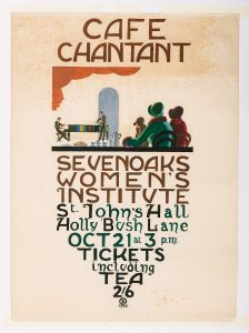 Hand painted poster for Sevenoaks WI event (1930) by Felix Tomlin, © Kent County Council Sevenoaks Museum