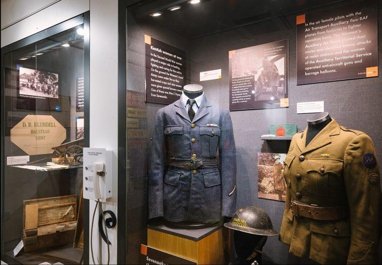 Display case in Sevenoaks Museum
