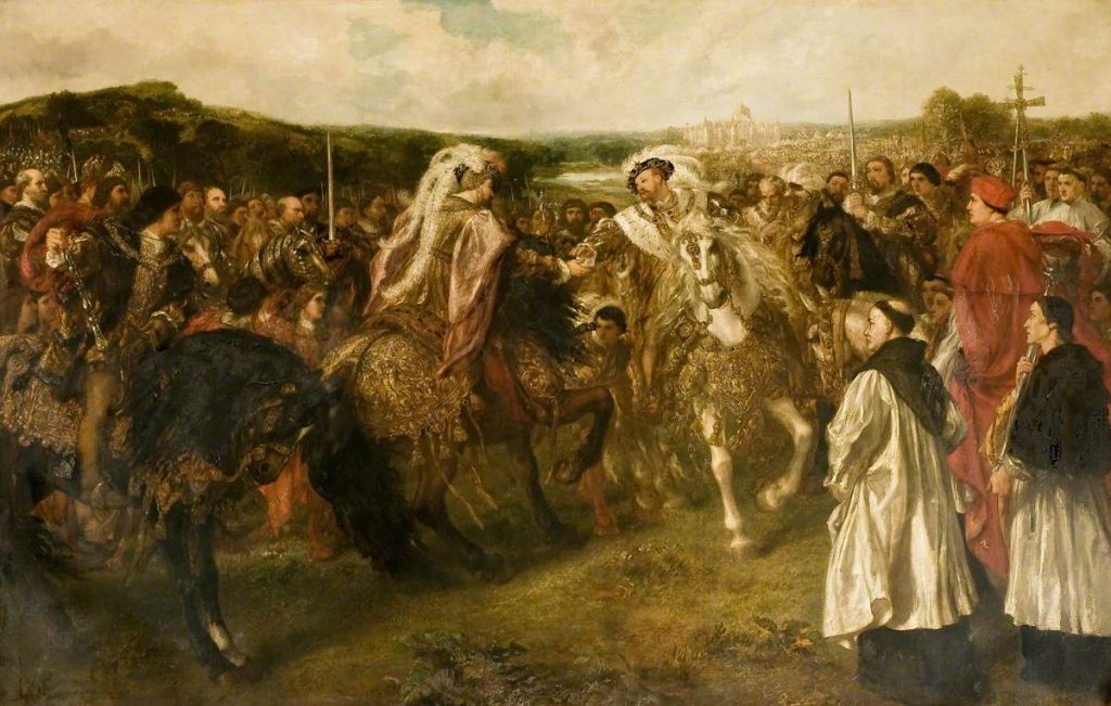 Field of the Cloth of Gold by John Gilbert (1817-1897), © Parliamentary Art Collection