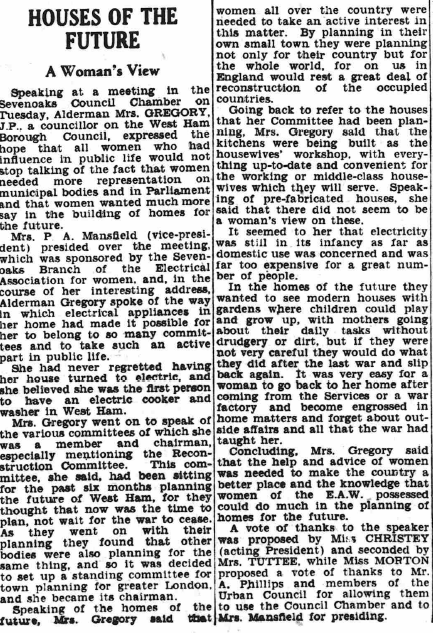 Article from the Sevenoaks Chronicle, 1944