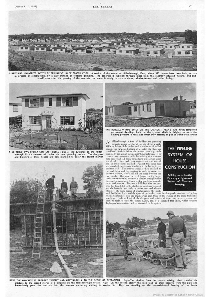 Article from The Sphere, 1947.