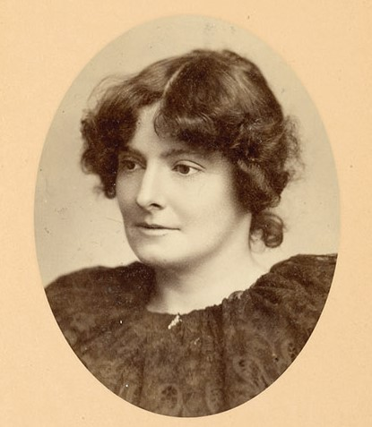 Edith Nesbit, portrait photograph from the book 'The Lives and Loves of Edith Nesbit'
