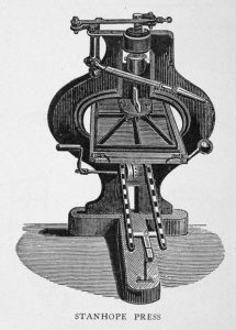 Illustration of the Stanhope printing press