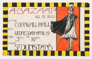 Hand painted poster for a bazaar, Sevenoaks Museum collection