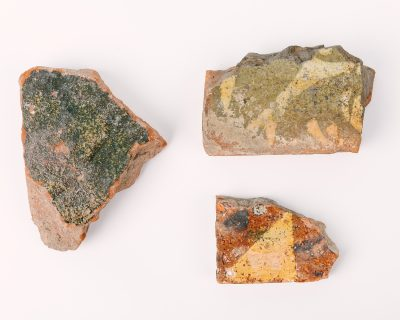 Tile fragments from Otford Palace, © Kent County Council Sevenoaks Museum