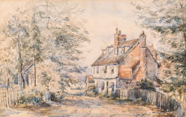 Painting of cottage where Emily Jackson set up her first hospital, © Kent County Council Sevenoaks Museum