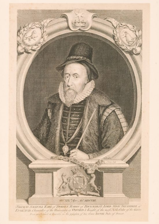 Portrait engraving of Thomas Sackville, Earl of Dorset, © Kent County Council Sevenoaks Museum
